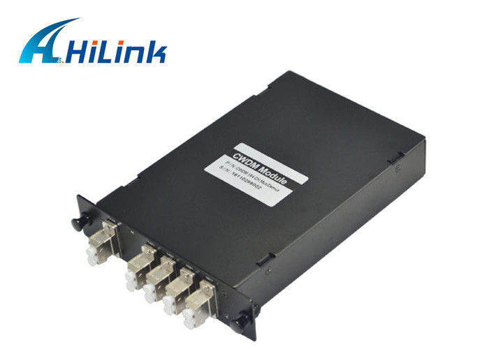 Low Insertion Loss CWDM Mux Demux Module , CWDM Fiber Optic Mux 1270nm - 1610nm