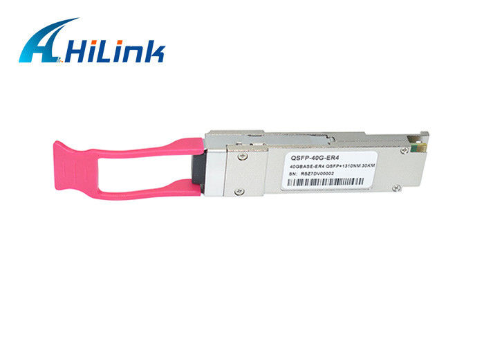 40G ER4 QSFP+ Transceiver 1310nm 30km Distance SMF LC DOM Module 3 Years Warranty