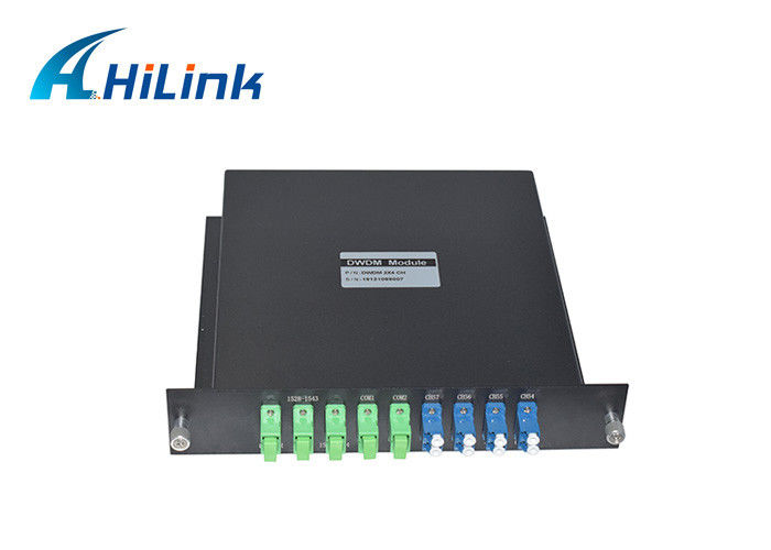 Hilink Optical DWDM Mux Demux 2X4CH Dual Fiber LGX Type High Isolation New Condition
